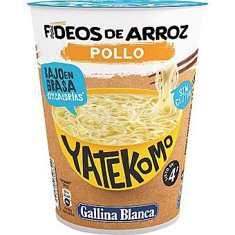 Yatekomo Gallina Blanca Noodles de arroz sabor a pollo 53 gramos