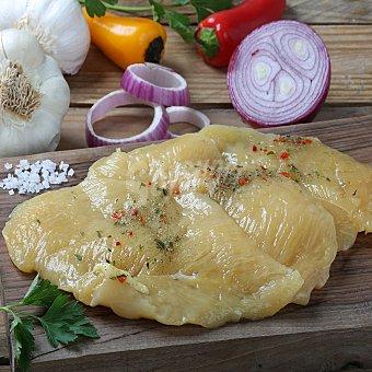 Coren Pechuga de pollo marinada fileteada Bandeja de 400.0 g.