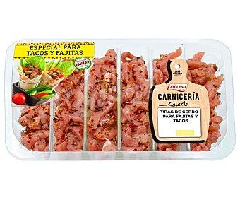 Emcesa Bandeja con tiras de jamón de cerdo, ideales para elaborar fajitas y tacos 300 g