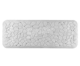 TOYMA Alfombra antideslizante para ducha modelo Piedras, color blanco, 95x36 centímetros 1 unidad