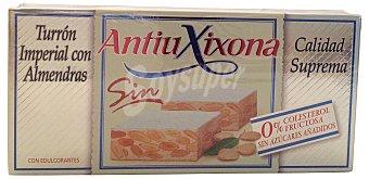 Antiu Xixona Turron sin azucar imperial con almendras (duro) 2 x 100 g