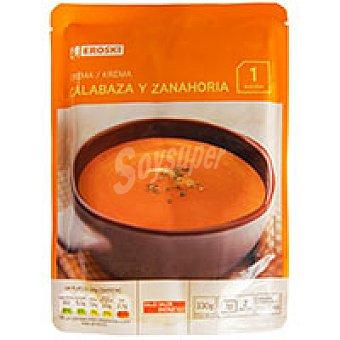 Eroski Crema de calabaza-zanahoria Sobre 330 g