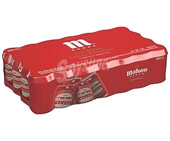 Rubia Mahou 5 estrellas cerveza nacional Pack 28 latas 33 cl