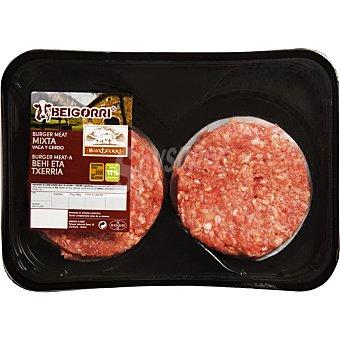 Beigorri Burger meat hamburguesas mixtas de vaca y cerdo 4 unidades bandeja 480 g 4 unidades