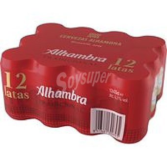 Alhambra Cerveza Pack 12x33 cl