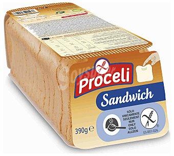 Proceli Pan de molde sandwich s/glut 390 g