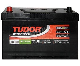 TUDOR Batería de arranque T15L 12 Voltios 100Ah, potencia de arranque: 720 Amperios 1 unidad