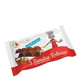 CHOCO L`ART Barritas rellenas leche+avellanas+chocolate 110 g