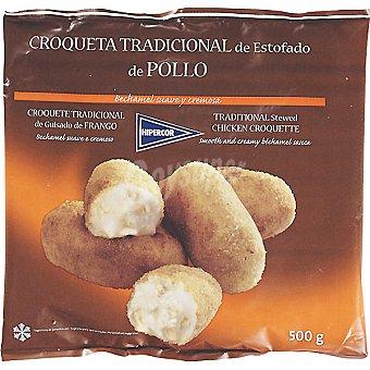 Hipercor Croqueta tradicional estofado de pollo bolsa 500 g Bolsa 500 g