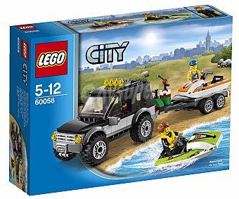 LEGO Juego de Construcción City, Furgoneta y Lancha, Modelo 60058 1 Unidad