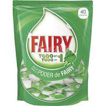 Fairy Lavavajillas máquina Todo en 1 Bolsa 60+20 dosis