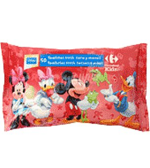 Carrefour Kids Toallitas cara y manos Mickey Pack 50 ud