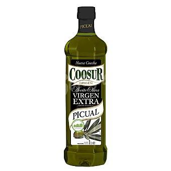 Coosur Aceite de oliva virgen extra sabor intenso variedad Picual Botella de 1 l