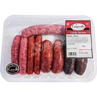 CAMPOVILLA Surtido barbacoa ibérica de chorizo rojo y criollo Bandeja 750 g