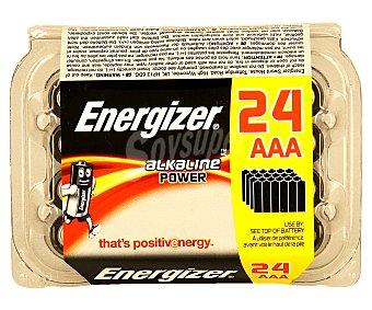 Energizer Caja de pilas alcalinas AAA LR03 24 unidades