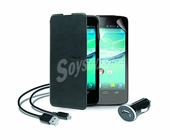 """Qilive Pack para smartphone Qilive 5.5"""" Q.4926 Cargador para coche Usb, funda con tapa, cable y protector de pantalla (teléfono no incluido)"""