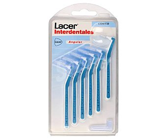 Lacer Cepillo interdental cónico y prensado de 0.8 mm 6 uds