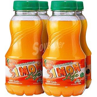 Simon Life Zumo de mandarina Pack de 4 botellas de 20 cl
