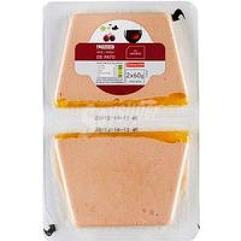 Eroski Paté de pato al Oporto Pack 2x60 g