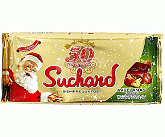 Suchard Turrón de Chocolate con Avellanas Enteras 300 Gramos