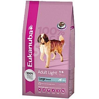 EUKANUBA ADULT LARGE BREED LIGHT Alimento completo para perro adulto de raza grande con sobrepeso rico en pollo Bolsa 15 kg