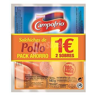 Campofrío Salchichas de pollo Pack 2x140 g