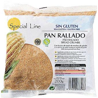 Special Line pan rallado sin gluten sin huevo y sin lactosa Envase 200 g