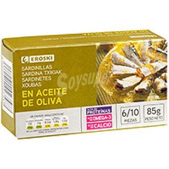 Eroski Sardinilla en aceite de oliva Lata 85 g