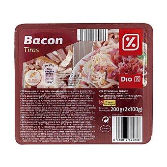 DIA Tiras de bacon envase 2x100 gr