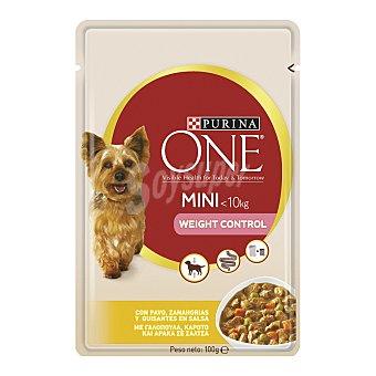 Purina One Alimento húmedo para perros de raza mini pavo con verduras en salsa My dog is food lover Bolsa 100 g