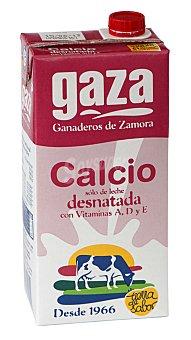 GAZA leche desnatada con calcio envase 1 l