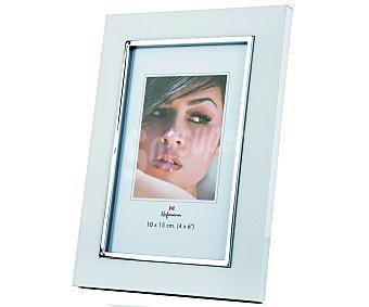HOFMANN Portafotos metálico con acabado en color blanco para fotografias de tamaño 10x15 1 Unidad