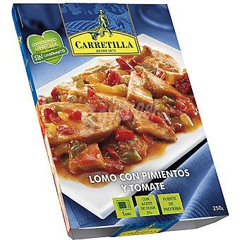 Carretilla Lomo con pimientos-tomate Bandeja 250 g