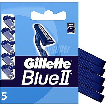 Gillette Blue ll. Maquinilla de afeitar desechable blister 5 unidades