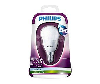 Philips Bombilla led esférica de 3.5W. con casquillo E14 (fino) y luz blanca philips