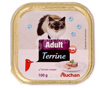 Auchan Comida Húmeda para Gato de Buey Tarrina de 100 Gramos