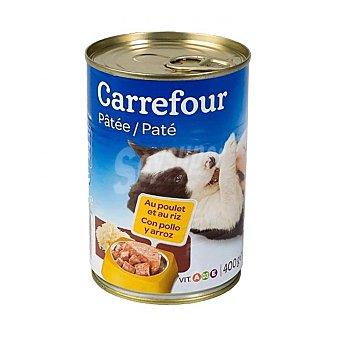 Carrefour Comida Húmeda para Perros Cachorros de Pollo y Arroz 400g 400 gr