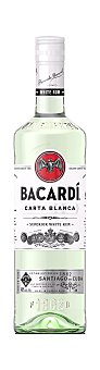 Bacardi Ron carta blanca Botella 70cl