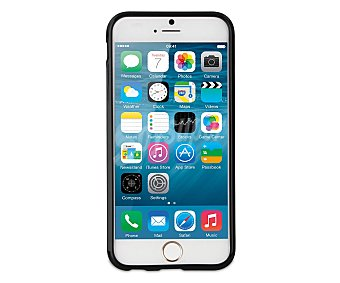 MUVIT Carcasa trasera para iphone 6, Negra, 6 carcasa