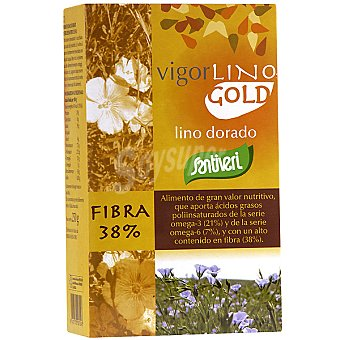 SANTIVERI VIGOR Lino Gold Semillas de lino dorado ricas en fibras solubles envase 250 g Envase 250 g
