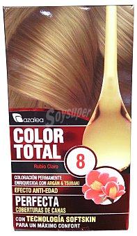 AZALEA Tinte coloración permanente color total n 8 rubio claro (enriquecido con aceite argan y tsubaki u