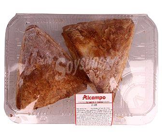 Bolleria Triángulo (masa de bollería no hojaldrada) rellena de crema 2 unidades