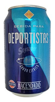 Hacendado Bebida isotónica cítrico Lata 33 cl