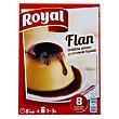 Flan para preparar contiene azúcar y caramelo líquido 8 raciones Estuche 186 g Royal