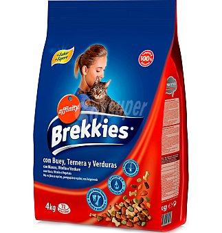 Brekkies Affinity Comida gato buey, ternera y verdura 4 KG