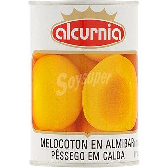 ALCURNIA Melocotón en almíbar en mitades Lata 240 g neto escurrido