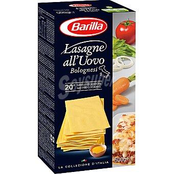 BARILLA LA COLLEZIONE lasaña al huevo  caja 500 g