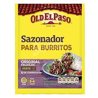 Old El Paso Sazonador para burritos Sobre 40 g
