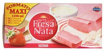 Hacendado Helado corte maxi nata/fresa Caja 1250 cc