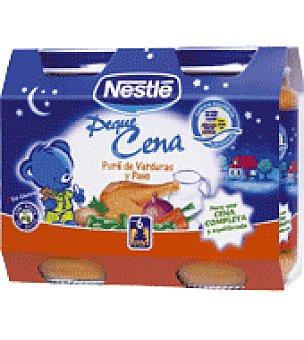 Nestlé Peque Cena: Puré de verduras y pavo sin gluten Pack de 2x200 g